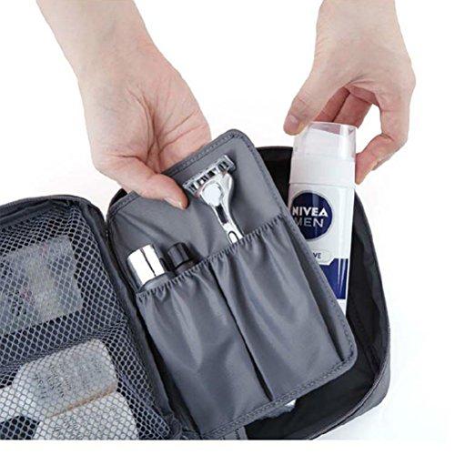 Contever® moda Donna Borsa da Viaggio Sacchetto della lavata Pacchetto multifunzionale bagagli Trucco Cosmetici Organizer Tasca -- Grigio