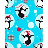 Wrapping paper, W: 50 cm, Penguins, 5 m