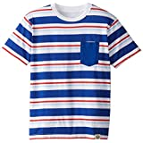 Wes and Willy Little Boys' Striped Pocket Tee