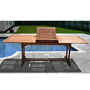 Vifah 67 39 39 92 39 39 Expandable Dining Table V232 P