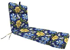Jordan Manufacturing Universal Chaise Cushion in Janice Royal by Jordan Manufacturing Co.