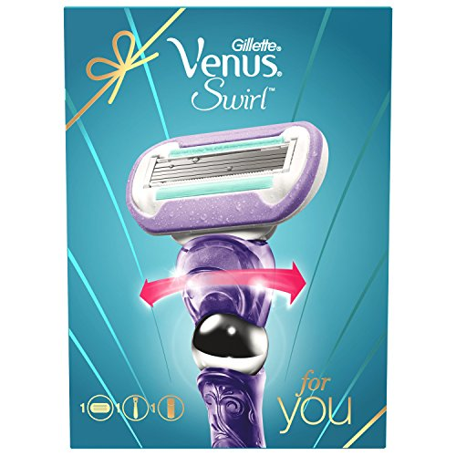 Rasoio Gillette Venus Swirl Plus Satin Care gel per rasatura Set Regalo per le donne