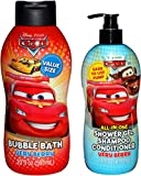 Disney Cars Very Berry Shower Shampoo Conditioner and Bubble Bath Set