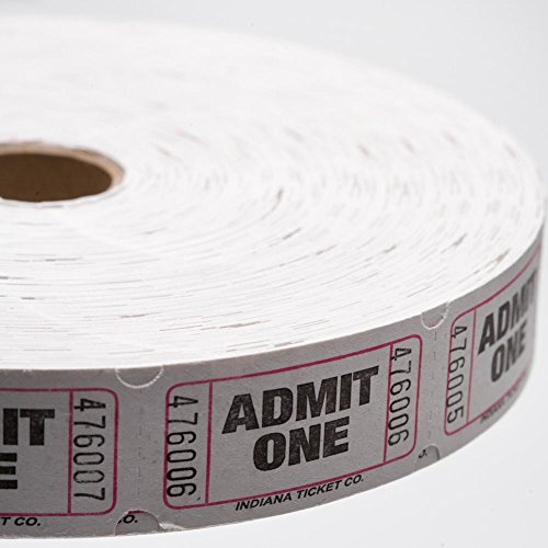 White Admit One Ticket Roll (Admit One Ticket Roll compare prices)