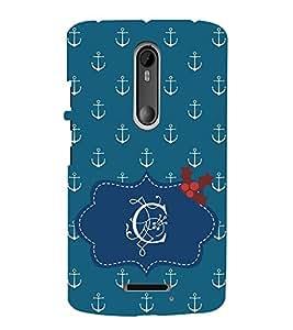 EPICCASE anchor of C Mobile Back Case Cover For Moto X 3rd Gen (Designer Case)