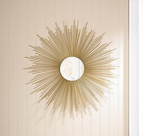 VINTAGE STYLE GOLDEN Shimmering RAYS Wall Round MIRROR Decor