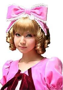 L-email Short 20cm Gold Hinaichigo Cosplay Party Hair Wig Rw08