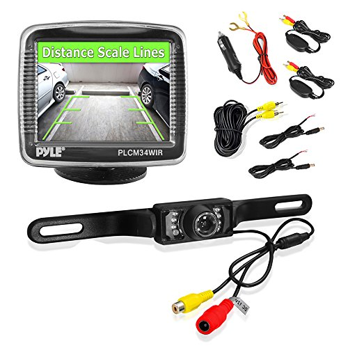 Pyle Plcm34Wir 3.5-Inch Monitor Wireless Back-Up Rearview And Night Vision Camera System