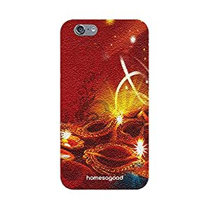HomeSoGood Diwali Gifts For Diwali Beautiful Collection Of Deepak Red 3D Mobile Cover For iPhone 6S