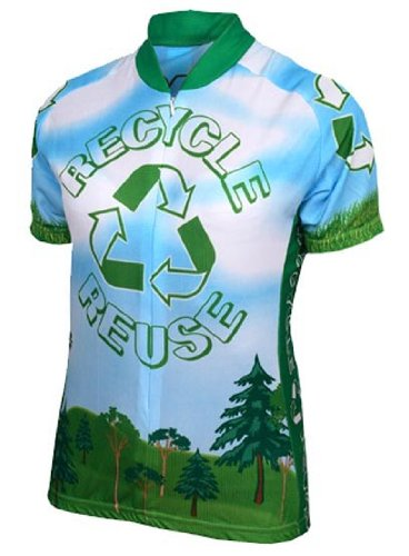 Buy Low Price World Jerseys Men's Recycle Cycling Jersey (B004EWG2YS)