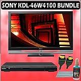 Sony Bravia W-Series KDL-46W4100 46-inch 1080P LCD HDTV + Sony DVD Player Accessory Kit