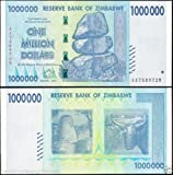 Zimbabwe 1 Million Dollar Banknote, 2008 Issue, P-77, UNC, 50 & 100 Trillion Series, Currency