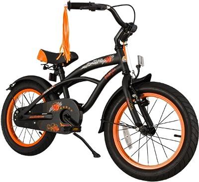 Bikestar 16 Inch (40.6cm) Kids Childrens Bike Bicycle - Cruiser - Black