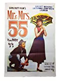Prop It Up Vintage Bollywood Original Reprinted Mr & Mrs 55 Poster (75cmX50cm)
