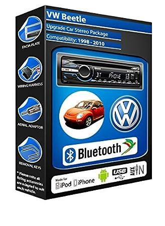 Volkswagen Beetle Lecteur CD et stéréo de voiture Bluetooth kit Mains Libres avec ports USB/AUX pour iPod/iPhone