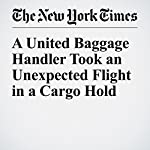 A United Baggage Handler Took an Unexpected Flight in a Cargo Hold | Christine Hauser