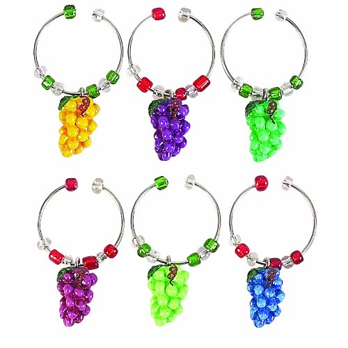 Boston Warehouse Napa Grapes Wine Charm Set (Wine Grape Charms compare prices)