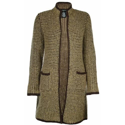 Sutton Studio Womens Wool Long Sweater Coat (Petite Small