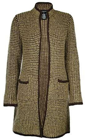 Sutton Studio Womens Wool Long Sweater Coat (Petite Small, Camel Combo