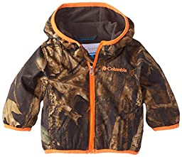 Columbia Baby-Boys Newborn Infant Boy Mini Pixel Grabber II Wind Jacket, Timber Wolf, 0-3 Months