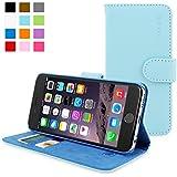 Snugg - Funda Para iPhone 6 - Funda De Cuero Con Soporte Plegable Y Una Garantía De Por Vida (Azul Claro) Para Apple iPhone 6