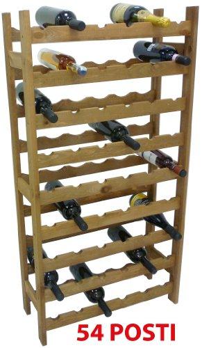 Mobile porta bottiglie cantinetta vino in legno noce - Porta vino ikea ...