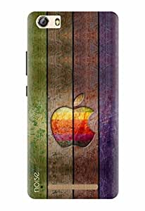 Noise Designer Printed Case / Cover for Gionee Marathon M5 Lite / Patterns & Ethnic / Apple Rainbow In Wood