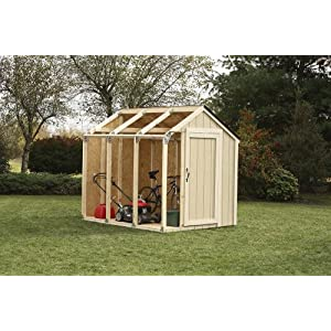 2x4basics 90192 Shed Kit, Peak Style Roof