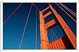 ゴールデンゲートブリッジトップのティンサイン 金属看板 ポスター / Tin Sign Metal Poster of Golden Gate Bridge Top