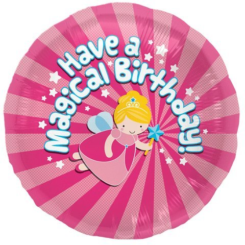 Magical Birthday Helium Foil Balloon - 18 inch - 1