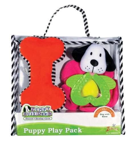 Puppy Builders Puppy Play Packs – Dog with Bone Puppy Gift