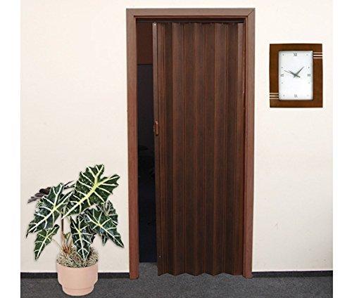 Porta a soffietto in legno di quercia ruegen scuro 86 x for Porte a soffietto amazon