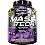 MuscleTech Mass Tech, Scientifically Superior Weight Gain Formula, Cookies and Cream, 7 lbs (3.18kg)