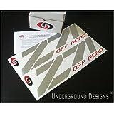 """Z71 OFF ROAD Chevy Fender Decal Tailgate Sticker 15"""" METALLIC SILVER & RED ~ UNDERGROUND DESIGNS"""