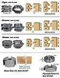 "Infinity Tools 83-044, 2-Piece Shaker Rail & Stile Shaper Set For Making 1-3/8"" Passage Doors, 3/4"" Bore"