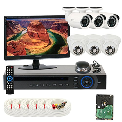 """Best Sale High End Professional 8 Channel H.264 Dvr With 6 X 1/3"""" Hdis Ccd Security Camera, 650Tv Line, 3.6Mm Lens. One Is 24Pcs Infrared Led, 49 Feet Ir Distance And One Is 12Pcs Infrared Led, 26 Feet Ir Distance. Free Led Monitor. Iphone, Android Viewin"""