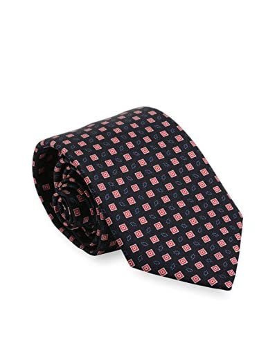 Brioni Men's Patterned Silk Tie, Black