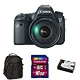 Canon EOS 6D Digital SLR with 24-105mm Kit with Backpack, Memory Card and Battery