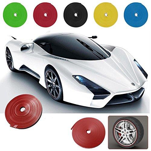 [해외]Ronben 자동차 휠 허브 림 모서리 보호대 링 타이어 가드 스티커 라인 고무 스트립, 롤 = 26FT/Ronben Car Wheel Hub Rim Edge Protector Ring Tire Guard Sticke