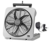 "10"" Portable Fan, Can Use Batteries or Adapter"
