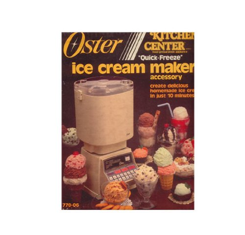 Vintage 1985 Oster Kitchen Center Quick Freeze Ice Cream Maker Accessory 770-06 (Oster Kitchen Centers compare prices)