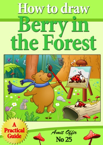 how to draw berry the bear in the forest step by step (how to draw comics and cartoon characters)