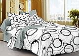 Cenizas 100% Cotton Double Bedsheet With 2 Pilow Cover( Mix & Match MM113 )