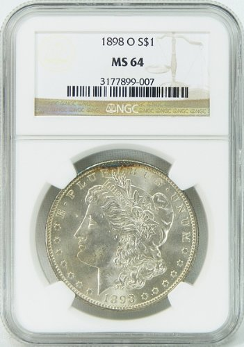 1898-O Morgan Silver Dollar Graded MS64 by NGC