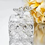 StudioSilversmiths 43994 Square Crystal Box with Butterfly Top