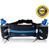 Hydration Belt For Weight Loss-Lightweight With Pocket, Includes 2 BPA Free Water Bottles Comes With A FREE Ebook...