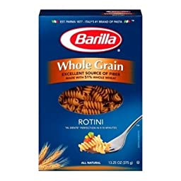 Barilla Whole Grain Rotini Pasta, 13.25 Ounce -- 12 per case.