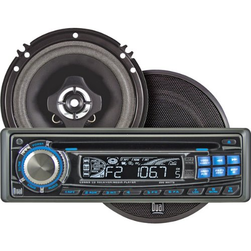 Dual CPR665 In-dash AM/FM, CD, MP3 and WMA Receiver with DCS65 6 1/2-Inch Speakers