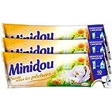 Minidou - Adoucissant en Doses - Pche et Fleurs de Cerisier - Tripack 250 ml / 30 Lavages - Lot de 4