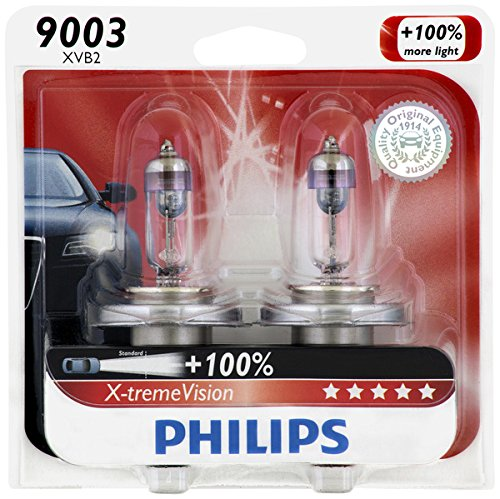 Philips 9003 X-tremeVision Upgrade Headlight Bulb, 2 Pack (Honda Civic 2000 Lx Glasses Seal compare prices)